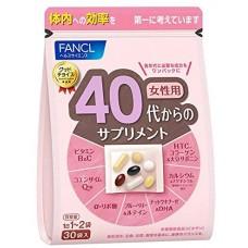 FANCL Витаминно-минеральный комплекс для женщин в возрасте от 40 до 50 лет (пищевая добавка)