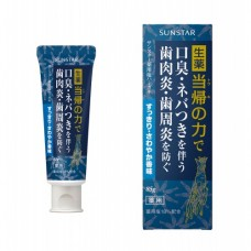 SUNSTAR Лечебная соленая зубная паста Shio hamigaki с экстрактом дудника остролопастного (освежающая мята), 85 г.