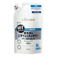 LUCIDO моющий деодорирующий гель для тела с лекарственными компонентами, Для мужчин от 40 лет (сменный пакет, 380 мл)