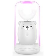 Lanbeibei IPX7, Серый мишка, Модель 2 Электрическая зубная щетка для детей от 7 до 12 лет, которые плохо прочищают зубки