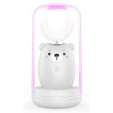 Lanbeibei IPX7, Серый мишка, Модель 1 Электрическая зубная щетка для детей от 2 до 6 лет, которые плохо прочищают зубки