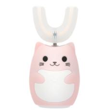 Lanbeibei IPX7, Розовый котёнок, Модель 2 Электрическая зубная щетка для детей от 7 до 12 лет, которые плохо прочищают зубки