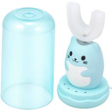Lanbeibei IPX7, Голубой котёнок, Модель 2 Электрическая зубная щетка для детей от 7 до 12 лет, которые плохо прочищают зубки