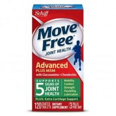 Schiff, Move Free, здоровье суставов, глюкозамин, хондроитин и МСМ, 120 таблеток, покрытых оболочкой