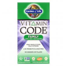 Garden of Life Vitamin Code Family  Витаминный Код Семья для всей семьи, 120 вегетарианские капсулы