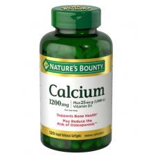 Nature's Bounty, Кальций 1200мг и витамин D3, 120 шт. желатиновых капсул быстрого растворения
