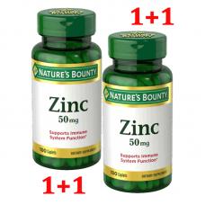 Nature's Bounty, Цинк 50 мг,200 каплетов с покрытием