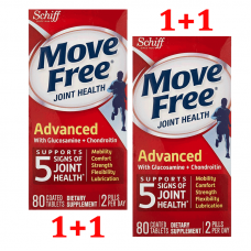 Schiff Move Free Advanced Tablets with Glucosamine & Chondroitin Joint Supplements, 80x2 сt