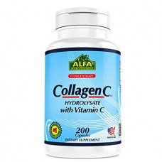 ALFA Коллаген C гидролизат - с витамином C - 200 капсул