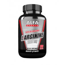 ALFA Максимум L- аргинин 1000 мг - Muscle Builder - 100 капсул