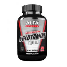ALFA Максимум L-глютамин 1000 мг - 100 капсул