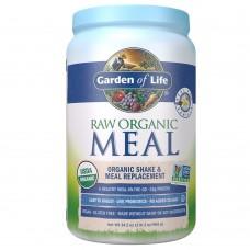 Garden of Life RAW Meal Сырая Органическая Еда, Натуральный Заменитель Приема Пищи или шейк с ванильным вкусом, 969г (34.2 oz)