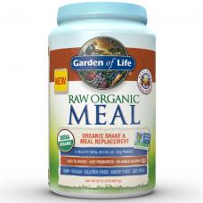 Garden of Life RAW Meal Сырая Органическая Еда, Натуральный Заменитель пищи или шейков, со вкусом ванильного чая, 907 г (32 oz), подходит для веганов