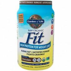 Garden of Life Сырой органический протеиновый порошок Raw Organic Fit, шоколадный, 28 г белка, контроль веса, 910 г (2 lb), подходит для веганов