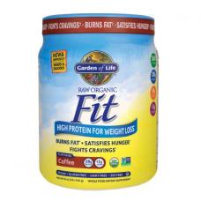 Garden of Life Сырой органический протеиновый порошок Raw Organic Fit, кофейный, 28 г белка, контроль веса, 454 г (1 lb), подходит для веганов
