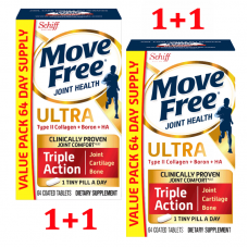 Schiff Move Free Ultra Triple Action with Type II Collagen Boron & HA Joint Supplements, 64 x 2 ct
