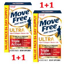 Shiff Move Free Ultra Triple Action с добавками из коллагена, бора и HA типа II, 64х2 каплет