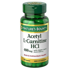 Nature's Bounty, Acetyl L-Carnitine HCl, 400 mg, 30 Capsules