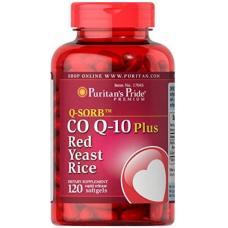 Puritan's Pride Q-Sorb™ Co Q-10 Plus Red Yeast Rice, 120 Softgels