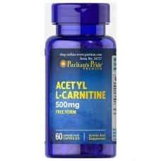 Puritan's Pride Acetyl L-Carnitine 500 mg 60 Caplets