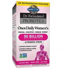 Garden of Life Dr. Formulated Серия «Составлено врачом» Раз в День, пробиотики для Женщин, 30 капсул (вегетарианские)
