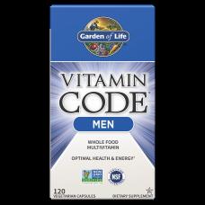 Garden of Life Vitamin Code Витаминный Код мультивитамины для мужчин, 120 вегетарианских капсул