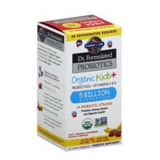 Garden of Life Dr. Formulated органические пробиотики (5 миллиардов) для детей, пробиотики + витамины C & D, со вкусом натуральной клубники и банана, 30 жевательных таблеток