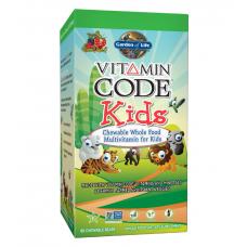 Garden of Life Vitamin Code Kids Витаминный Код «Дети», 60 жевательных медвежат
