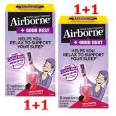 Airborne Immune Support Supplement + Good Rest Very Berry Powder Supplement, 16 x 2 Ct (32x 0,28 oz)
