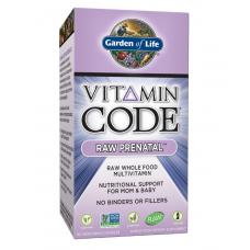 Garden of Life Vitamin Code Raw Prenatal Витаминный Код Сырой Пренатал, 90 вегетарианские капсулы