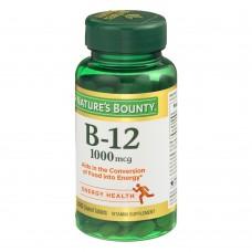 Nature's Bounty, B-12, 1000 мкг, 200 таблеток с оболочкой