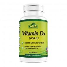 ALFA Витамин D3 5000 МЕ - 100 капсул