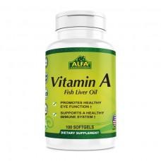 ALFA Витамин А Рыбий жир - 100  капсул