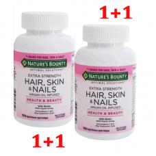 Nature's Bounty Optimal Solutions, Extra Strength Hair, Skin & Nails, Оптимальное решение Экстра крепкие Волосы, Кожа и Ногти, 2 уп Х150 капсул