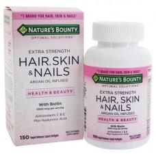 Nature's Bounty Optimal Solutions, Extra Strength Hair, Skin & Nails, Оптимальное решение Экстра крепкие Волосы, Кожа и Ногти, 150 капсул