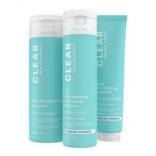 Paula's Choice CLEAR REGULAR STRENGTH KIT/ ОЧИЩЕНИЕ Набор из 3-х продуктов, средней силы воздействия (Очищение, Отшелушивание, Лечение)