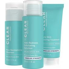 Paula's Choice CLEAR REGULAR STRENGTH KIT/ ОЧИЩЕНИЕ Набор из 3-х продуктов, средней силы воздействия (Очищение, Отшелушивание, Лечение) (маленькие упаковки)
