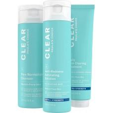 Paula's Choice CLEAR EXTRA STRENGTH KIT/ ОЧИЩЕНИЕ Набор из 3-х продуктов, сильного воздействия (Очищение, Отшелушивание, Лечение)