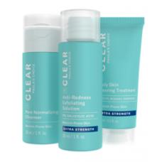 Paula's Choice CLEAR EXTRA STRENGTH KIT/ ОЧИЩЕНИЕ Набор из 3-х продуктов, сильного воздействия (Очищение, Отшелушивание, Лечение) ( маленькие упаковки)
