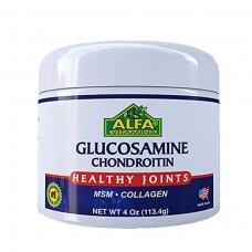 Alflexil Крем с глюкозамином и хондроитином с МСМ и коллагеном для поддержки суставов и костей – 113, 4 г (4 oz)