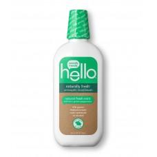Hello Naturally fresh ™ антисептическая жидкость для полоскания рта с ментолом из выращенной на ферме мяты перечной, 16 унций (473 мл), веганский