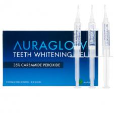 AuraGlow Комплект из 3 шприцов по 5 мл Отбеливающего геля для зубов, 35% перекись карбамида