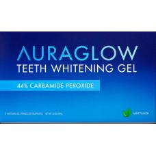 AuraGlow Комплект из 3 шприцов по 5 мл Отбеливающего геля для зубов, 44% перекись карбамида