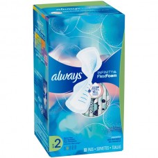 Always Infinity, Flex Foam, with Aloe, Size 2, with Wings, Unscented, heavy flow, 32 pads