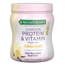 Nature's Bounty, Optimal Solutions, Смесь для приготовления напитков, богатая протеинами и витаминами, ваниль, 16 унций (453 г)