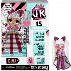 L.O.L. Surprise! ЛОЛ. Сюрприз!  Модная мини-кукла JK Diva (Джэй Кэй Дива)с 15-ю сюрпризами