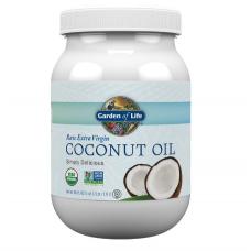 Garden of Life Raw Extra Virgin Coconut Oil Натуральное Экстра Вирджин Кокосовое Масло в пластиковой банке - 56 жидких унций (1,6 л)