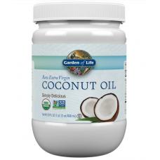 Garden of Life Raw Extra Virgin Coconut Oil  Натуральное  Экстра Вирджин Кокосовое Масло в пластиковой банке - 29 жидких унций (858 мл)