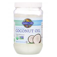 Garden of Life Raw Extra Virgin Coconut Oil  Натуральное  Экстра Вирджин Кокосовое Масло в пластиковой банке - 14 жидких унций (414 мл)