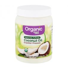 Great Value Натуральное рафинированное кокосовое масло,1,65 л (56 ж. унций)